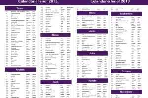 Calendario ferial 2013