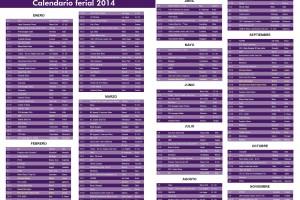 Calendario ferial 2014