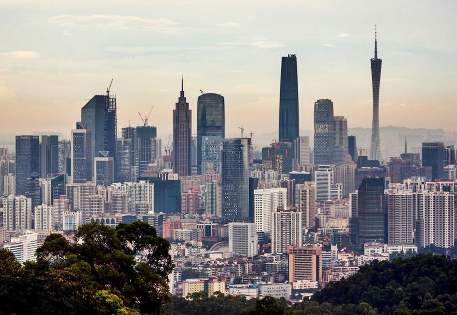 Skyline de Guangzhou. Fuente. Wikipedia, Autor: jo.sau. Licencia Cc by 2.0.