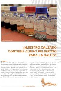 Primera página del informe