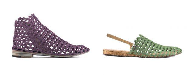Verdura Shoes, zapatos hechos con redes de pescar