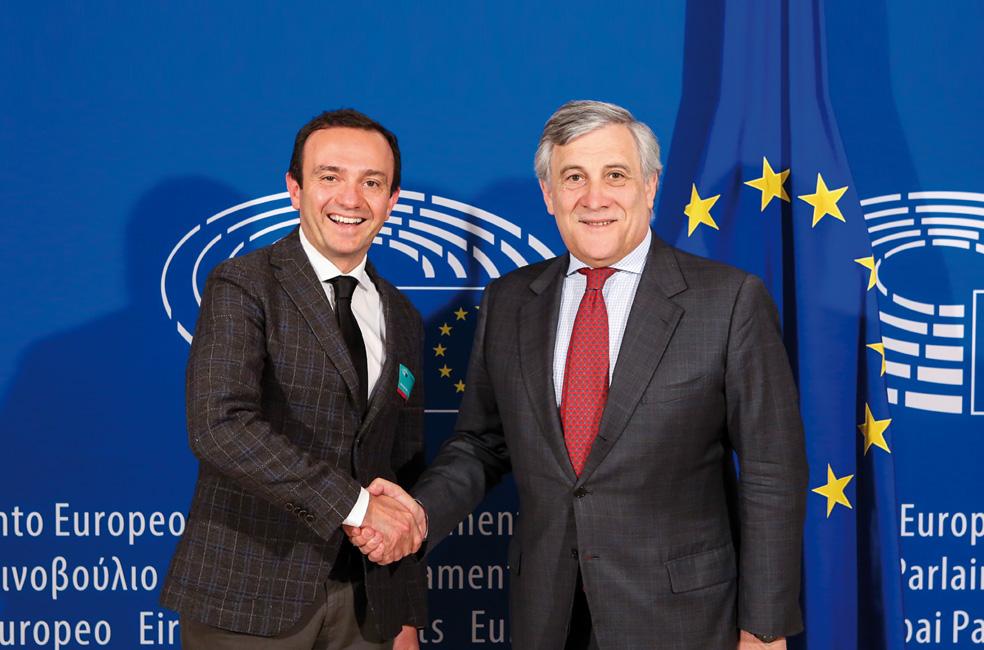 Cleto Sagripanti y Antonio Tajani