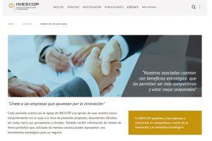 Inescop presenta su nueva página web