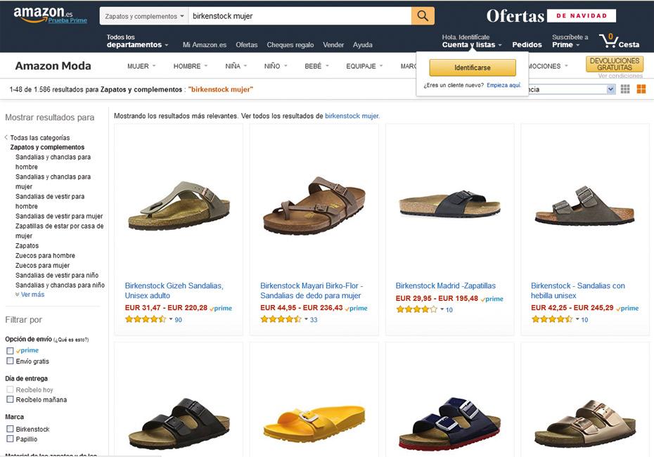 Birkenstock en Amazon