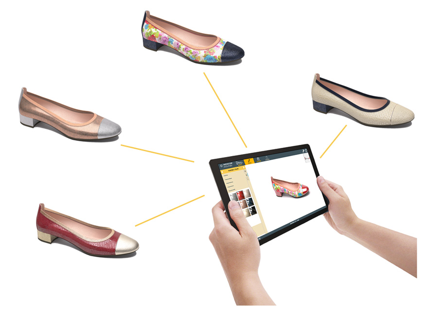 Catálogo virtual de modelos de calzado.