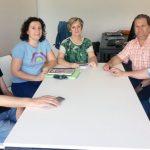 Representantes de Comisiones Obreras y de la patronal Avecal en la reunión del pasado 4 de junio.