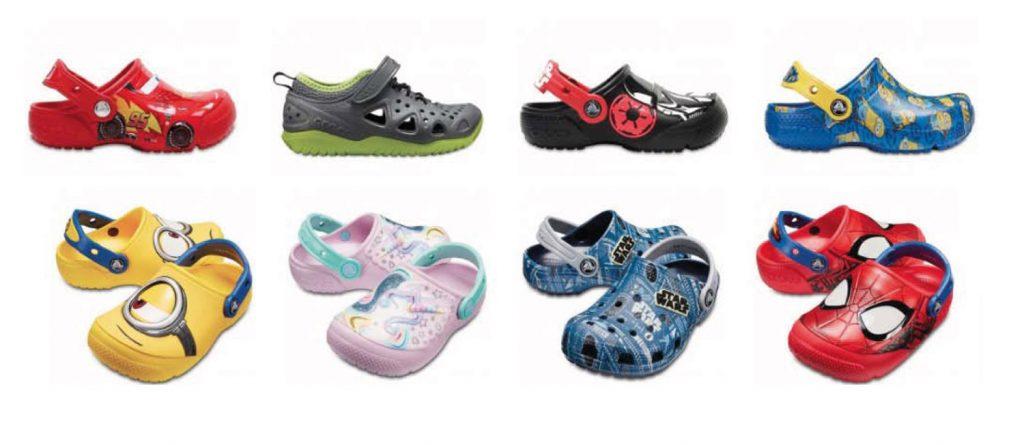 colección infantil de Crocs