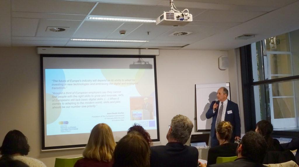 Presentación del proyecto Digital TCLF en Bruselas el pasado 8 de febrero.