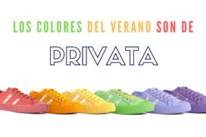 Privata, zapatillas para un verano lleno de color