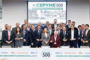 El calzado destaca en el listado 2019 de Cepyme500