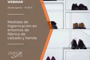 Avecal organiza un webinar sobre higienización en tiendas y fábricas de calzado