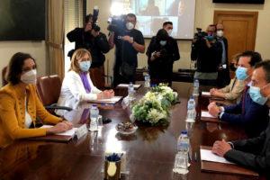 La ministra de Industria prevé una pronta resolución del conflicto por la subida de los aranceles estadounidenses al calzado español