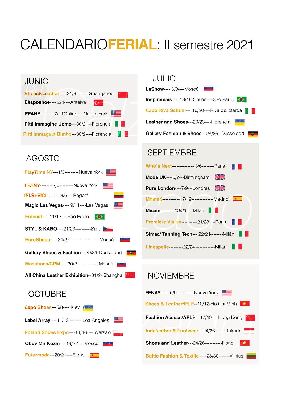 calendario ferial 2021